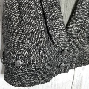 Free People Vest Cropped Tweed Steampunk